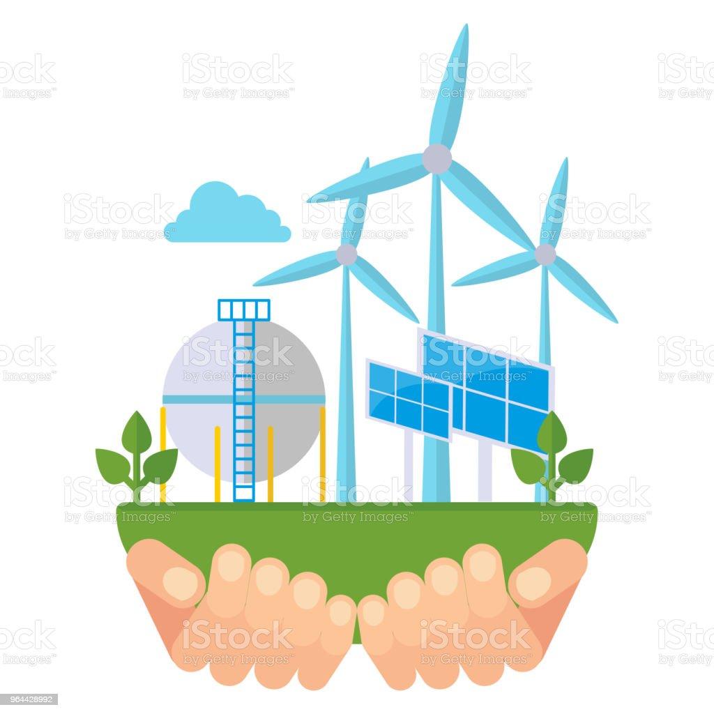 Eco groene energie - Royalty-free Achtergrond - Thema vectorkunst
