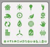 istock Eco green icons 159243886