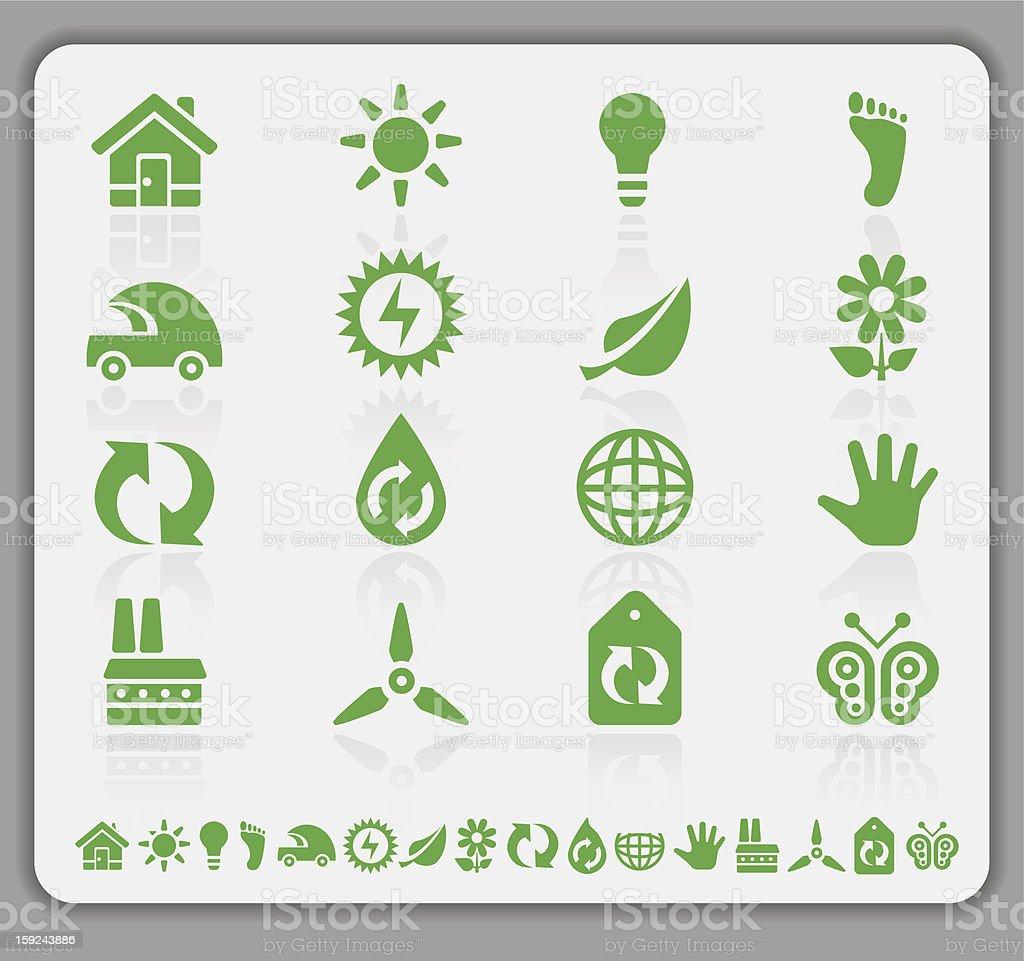 Ícones de Eco Verde - foto de acervo