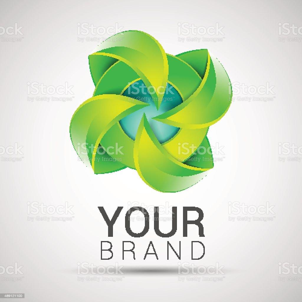 Ilustración de Plantilla De Logotipo Eco Verde Hoja Verde Ecología ...