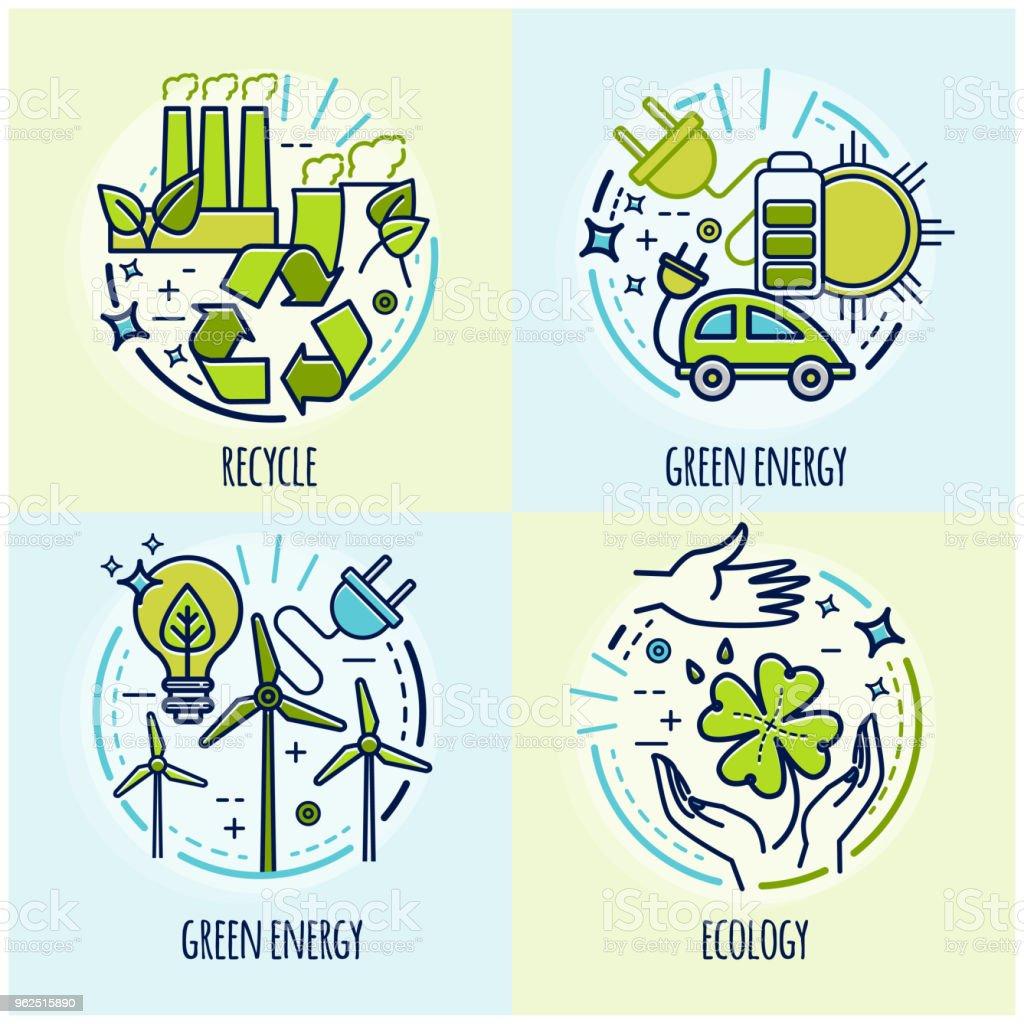 Eco Green Technology Organic Bio Design Concept Vector