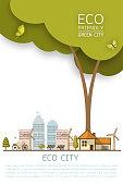 eco home concept banner