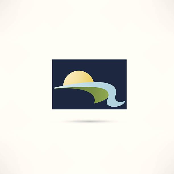 eco home icon vector art illustration