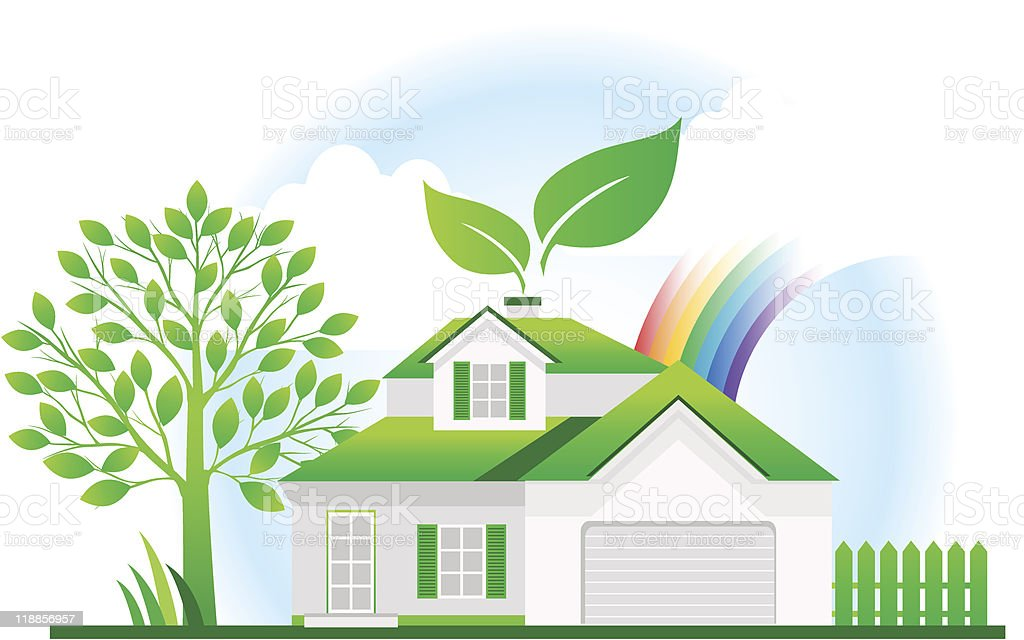 Eco hous royalty-free eco hous stock vector art & more images of alternative energy