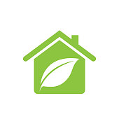 eco house icon. eps 10 vector file