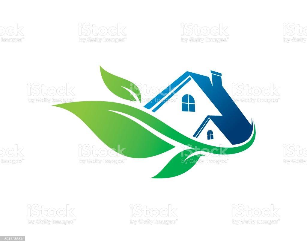 Eco House Symbol Template Design Vector, Emblem, Design Concept, Creative Symbol, Icon