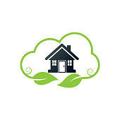 eco house. eps 10 vector file