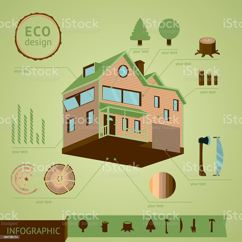Eco house stock vector art 484738124 istock bar graph blueprint concepts topics construction industry data eco house malvernweather Choice Image