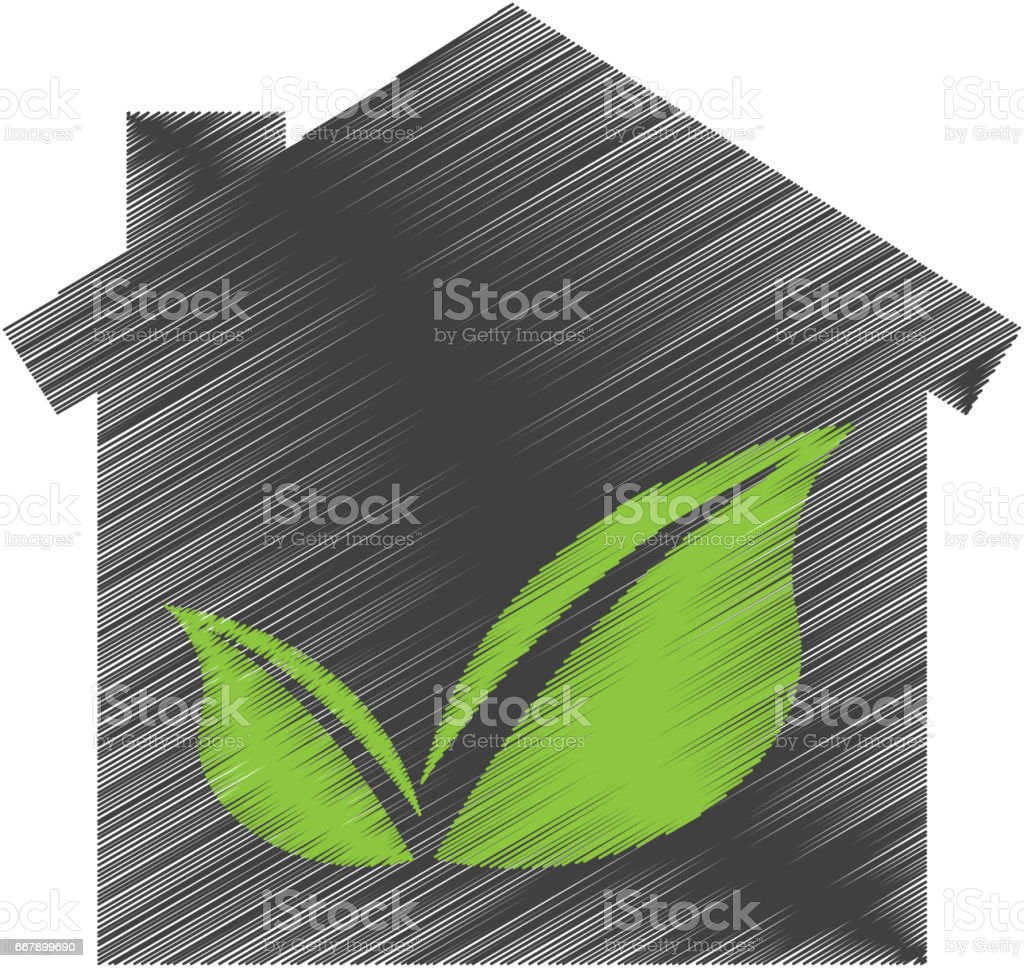 eco house with leafs isolated icon royalty-free eco house with leafs isolated icon stock vector art & more images of architecture