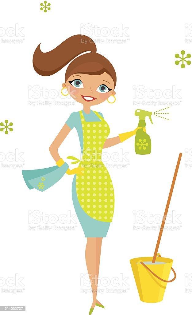 Eco Hausfrau – Vektorgrafik