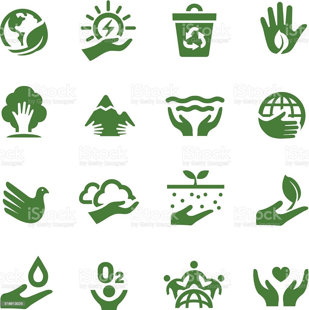 Eco Icons - Acme Series vector art illustration