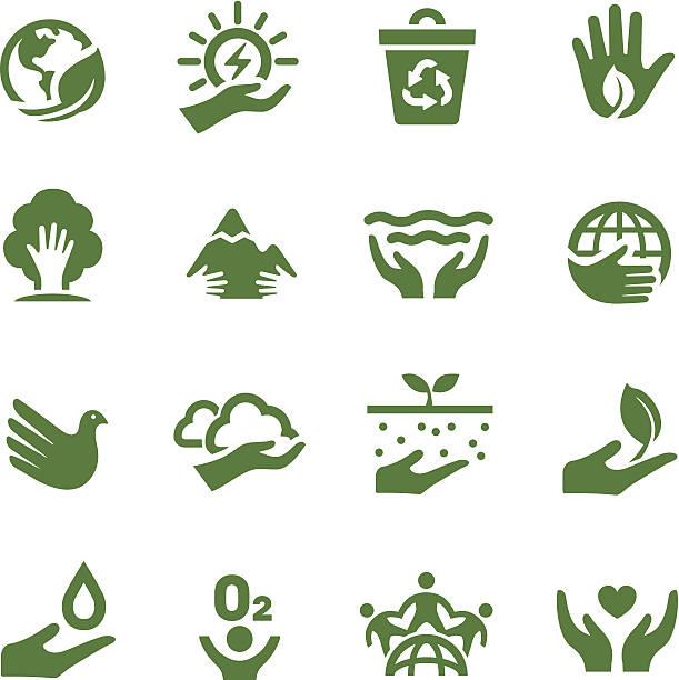 ilustrações de stock, clip art, desenhos animados e ícones de acme série ícones-eco - green world