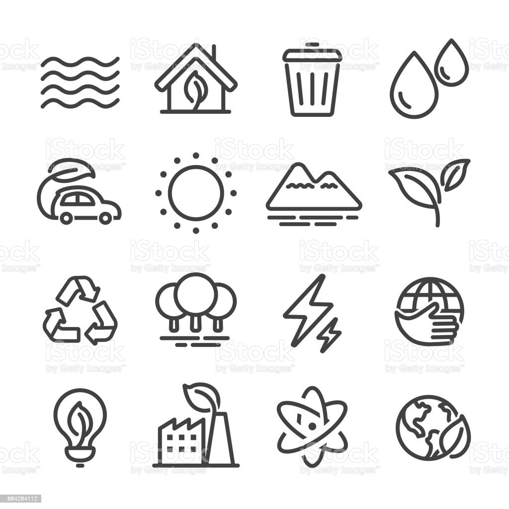 Eco Icons - Line Series royalty-free eco icons line series stock vector art & more images of alternative energy