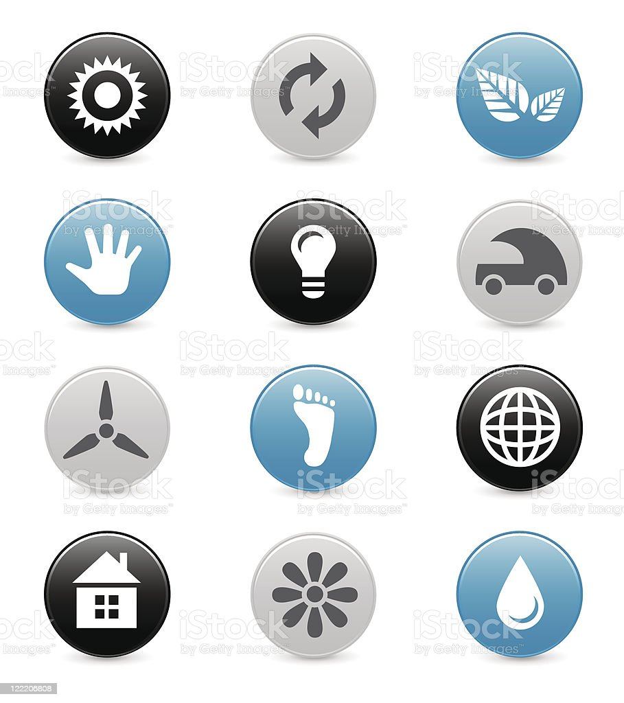 Eco icons | Smoothly series royalty-free stock vector art