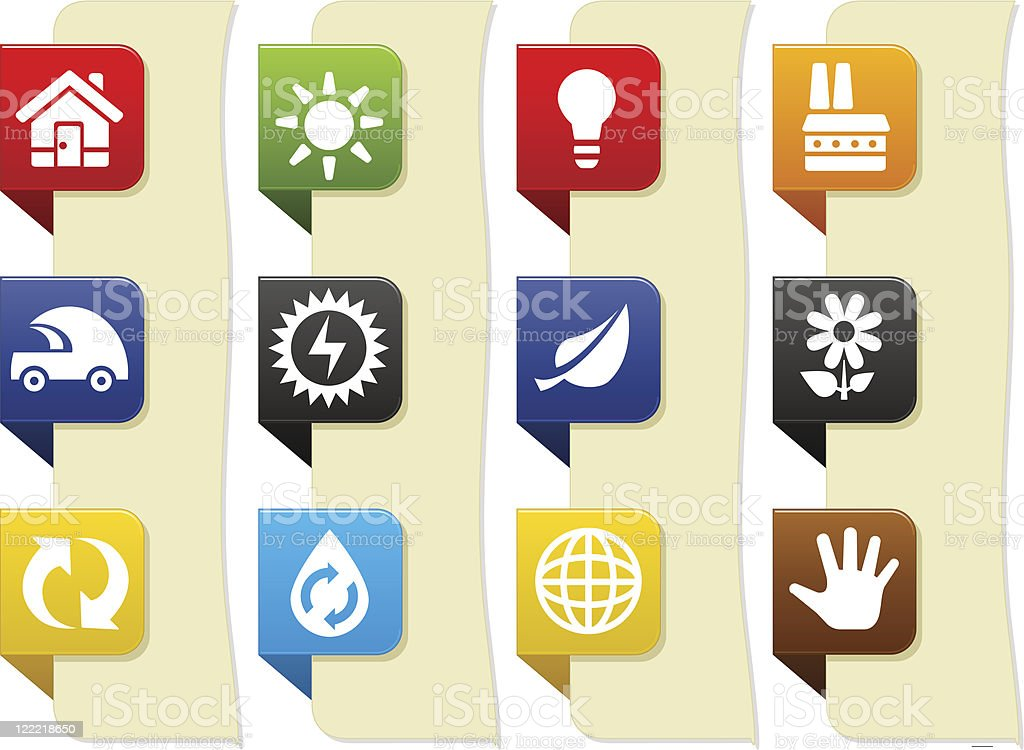 Eco icons royalty-free eco icons stock vector art & more images of arrow - bow and arrow