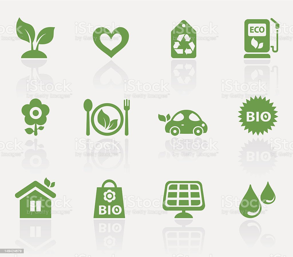 Eco icons royalty-free stock vector art