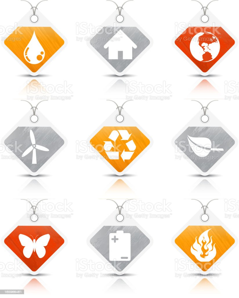 Eco icons royalty-free eco icons stock vector art & more images of butterfly - insect