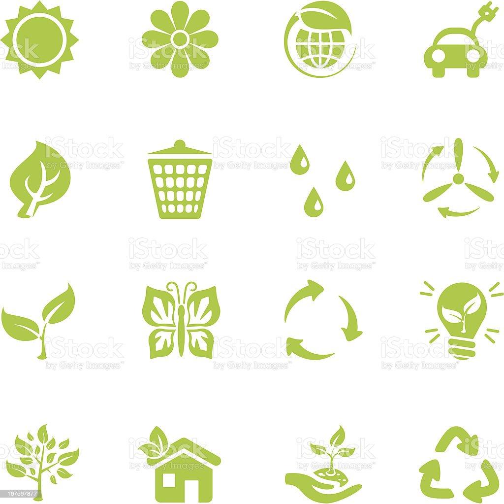 Eco icônes - Illustration vectorielle