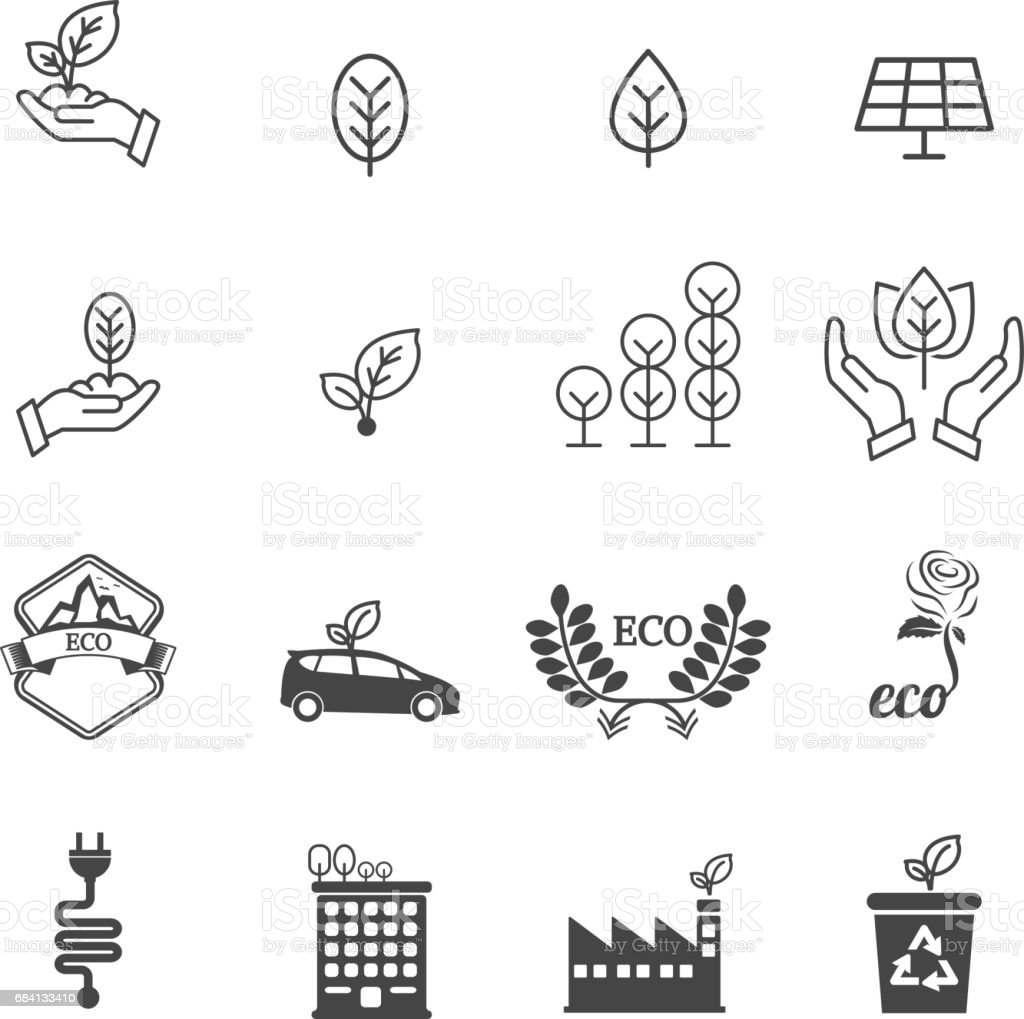 Eco pictogrammen royalty free eco pictogrammen stockvectorkunst en meer beelden van abstract