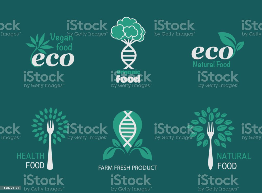 Eco icons vector art illustration