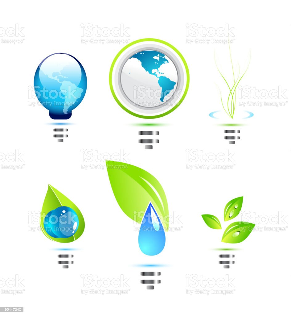 Eco icons royalty-free eco icons stock vector art & more images of art