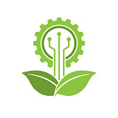 eco industry. eps 10 vector file