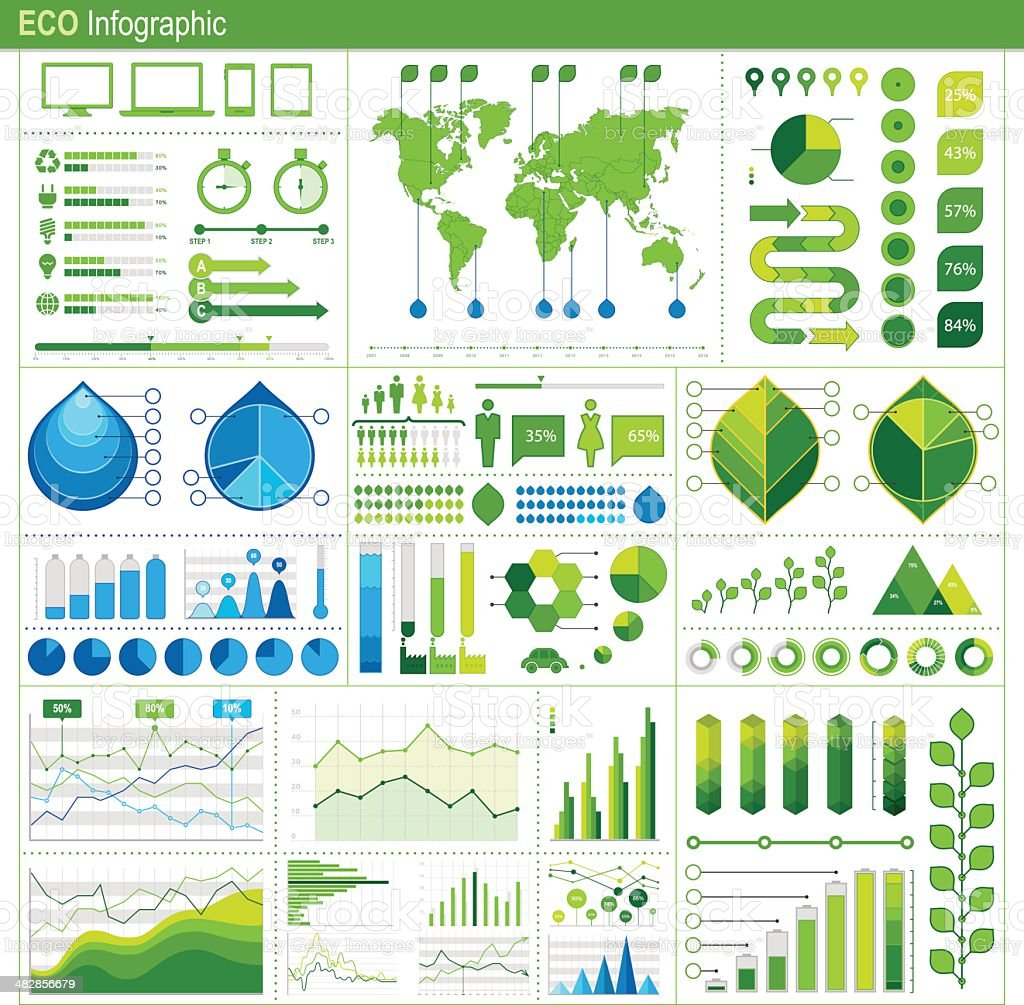 Eco infographic vector art illustration