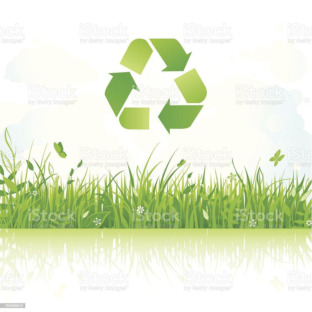Eco landscape royalty-free stock vector art