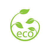 eco leaf concept. eps 10 vector file