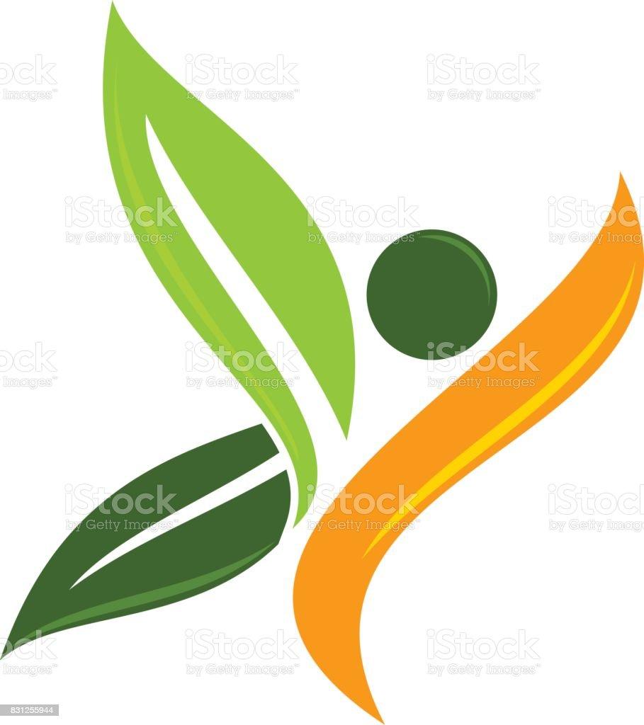 Eco vida sana - ilustración de arte vectorial
