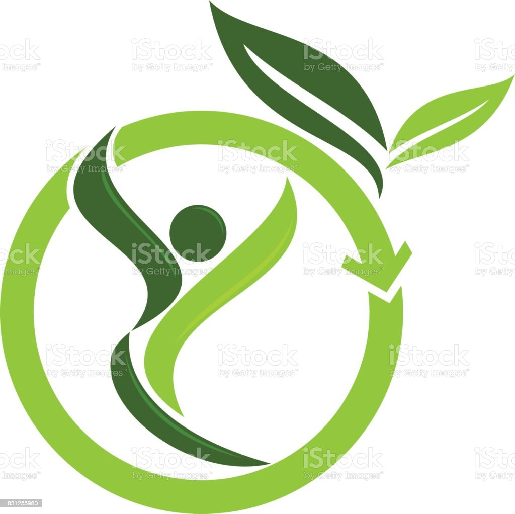 Eco Life Healthy vector art illustration