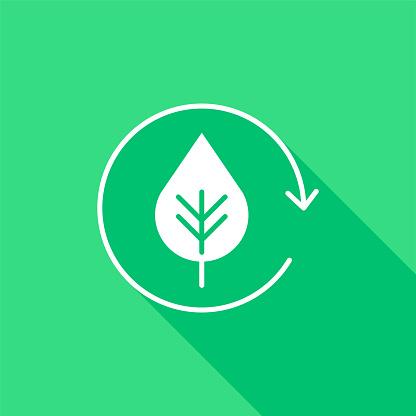 Eco Life Mono Color Flat Icon. Pixel Perfect.