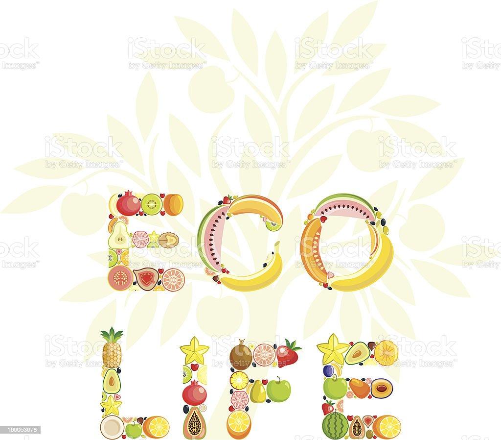 Eco life vector art illustration