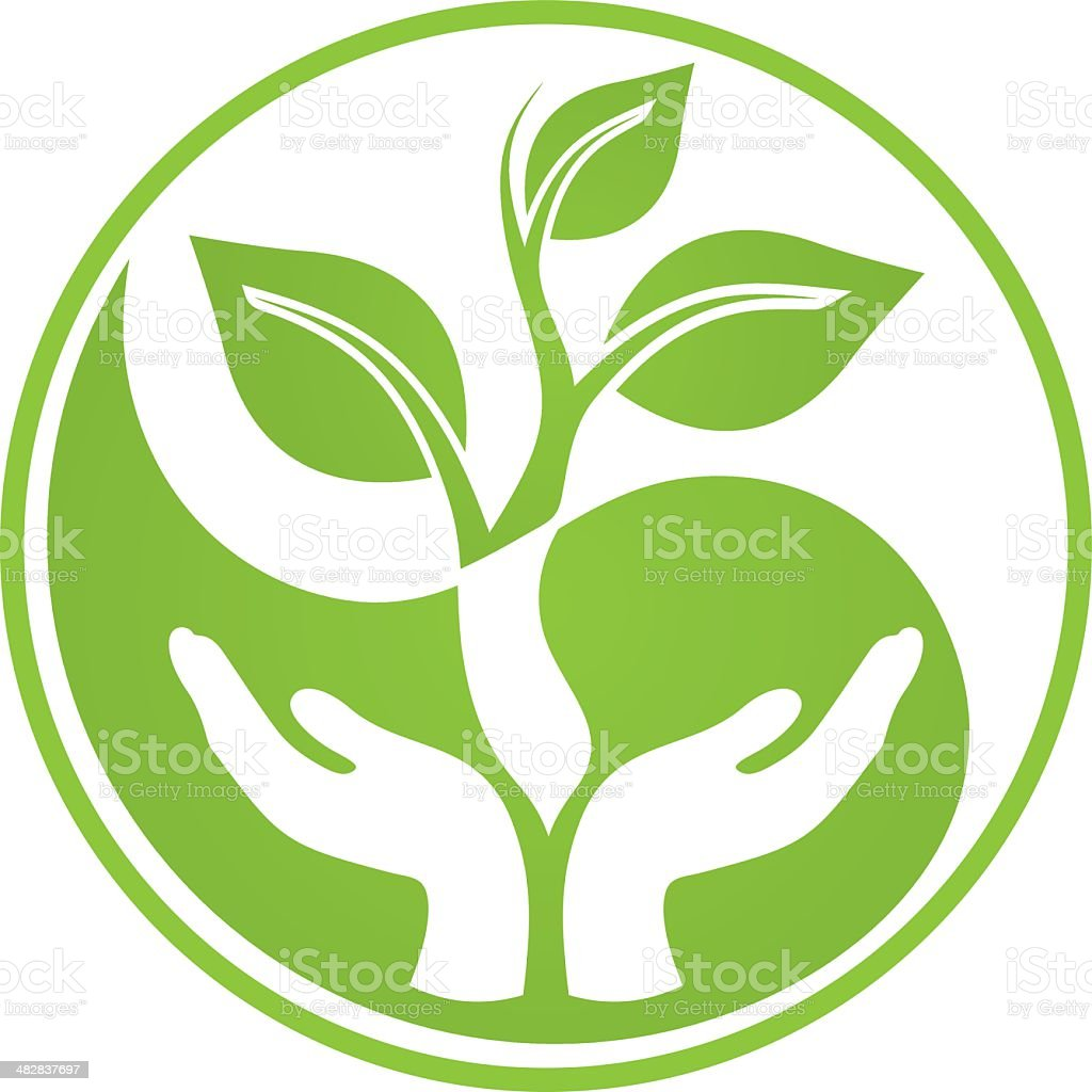 Eco life vector art illustration