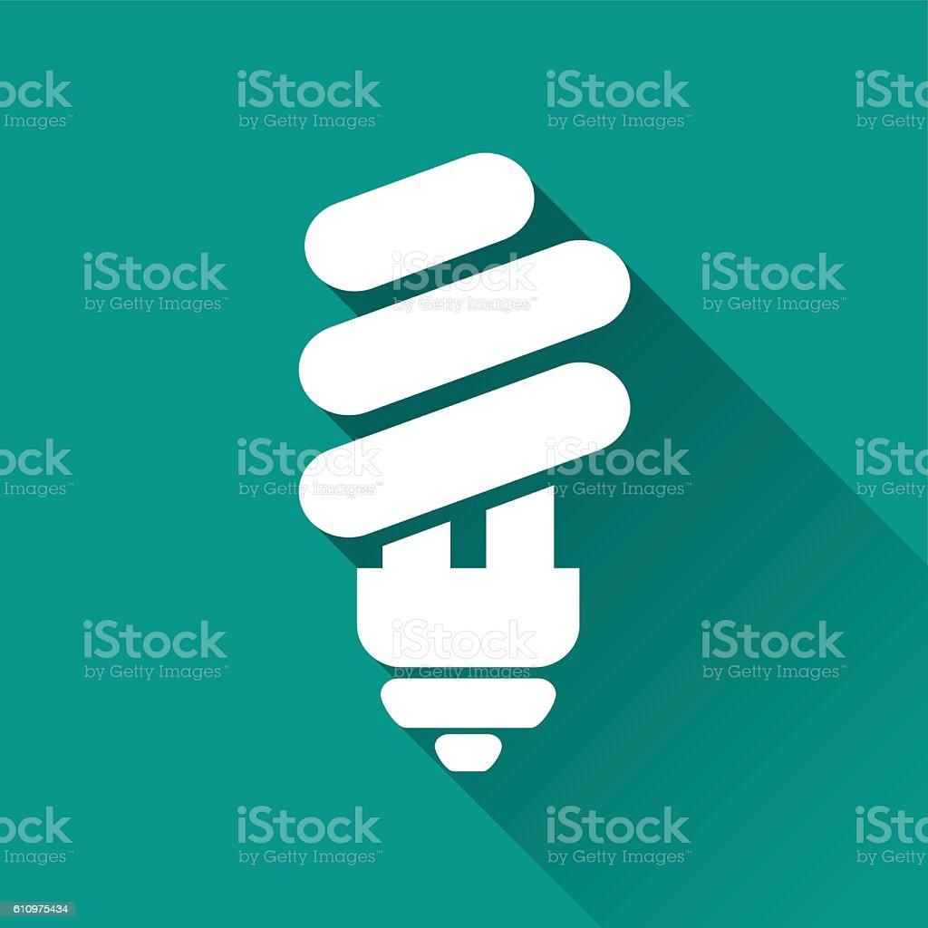 eco light bulb icon vector art illustration