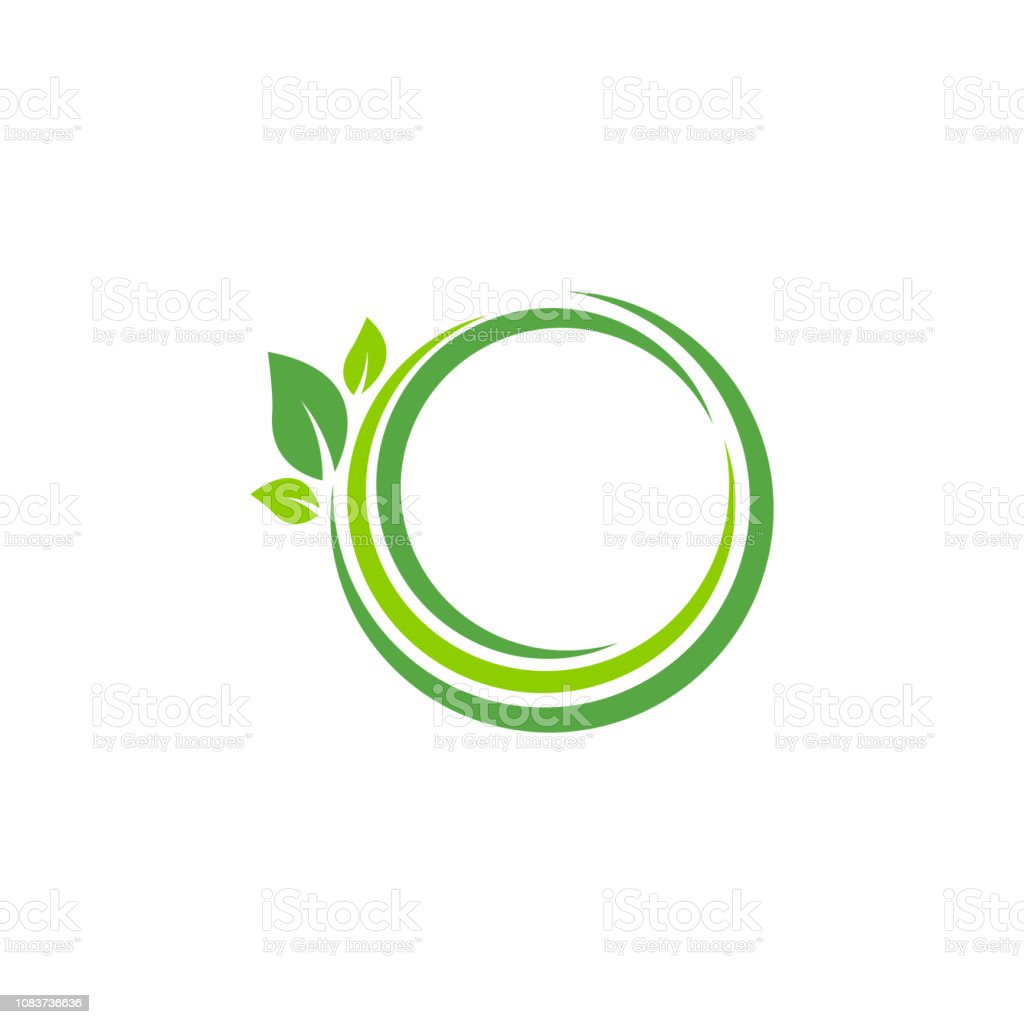 Eco Logo And Element Of Green Leaf For Ecology Friendly Concept