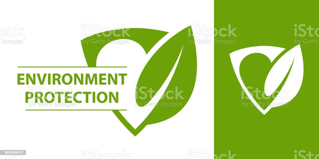 Eco logo. Shield with leaf eco logo shield with leaf - stockowe grafiki wektorowe i więcej obrazów abstrakcja royalty-free