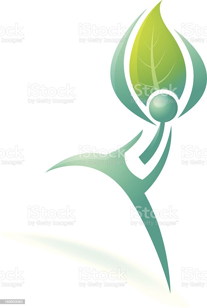 Eco Man royalty-free stock vector art