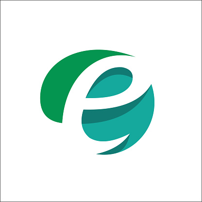 Eco Natural Letter Initial E Logo vector Design Template