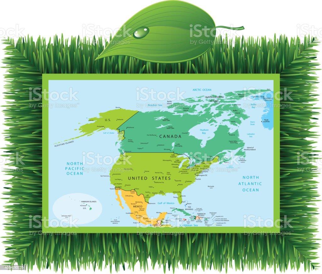 Eco North America royalty-free stock vector art