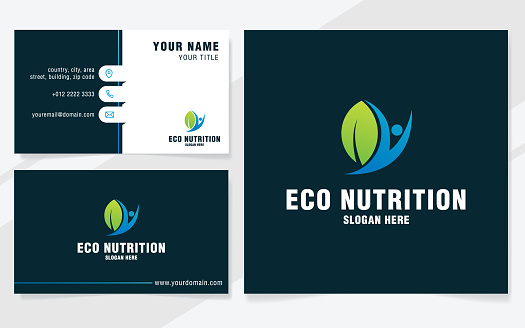 Eco nutrition icon template on modern style