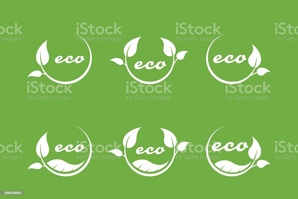eco or bio friendly company logo, green leaves royalty-free eco or bio friendly company logo green leaves stock vector art & more images of abstract