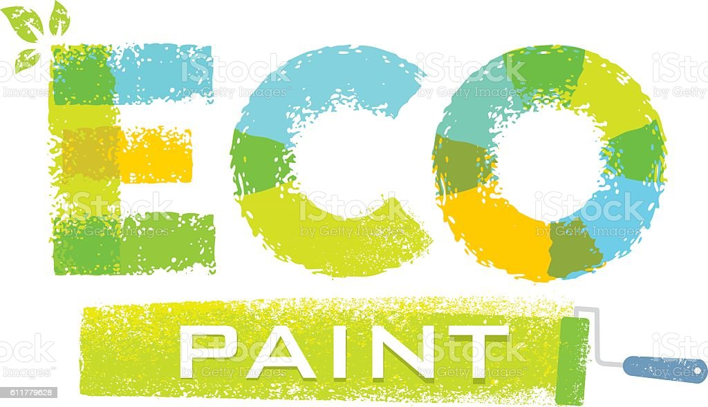 Eco paint rough brush vector illustration concept stock for Eco paint
