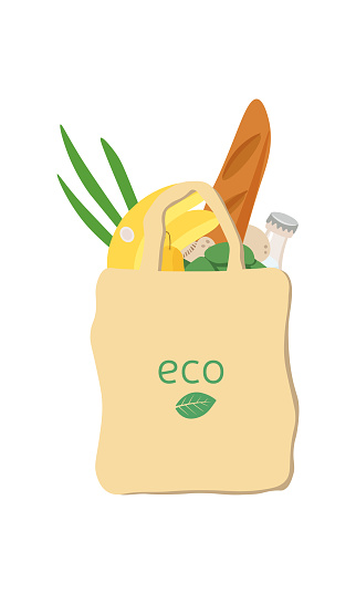 eco paper bag with products