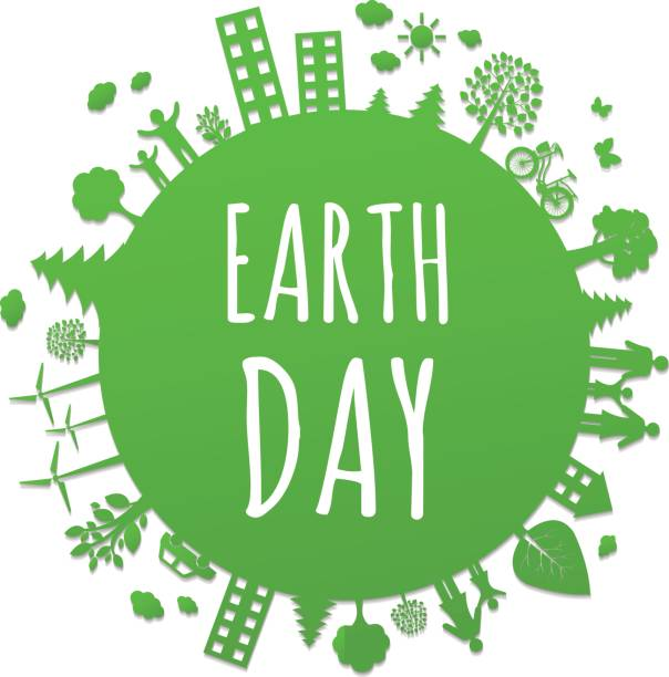 eco planet - earth day stock illustrations