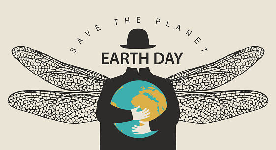 Eco poster concept save the planet. Earth day