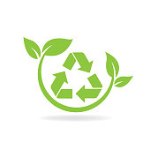 eco recycle concept. eps 10 vector file