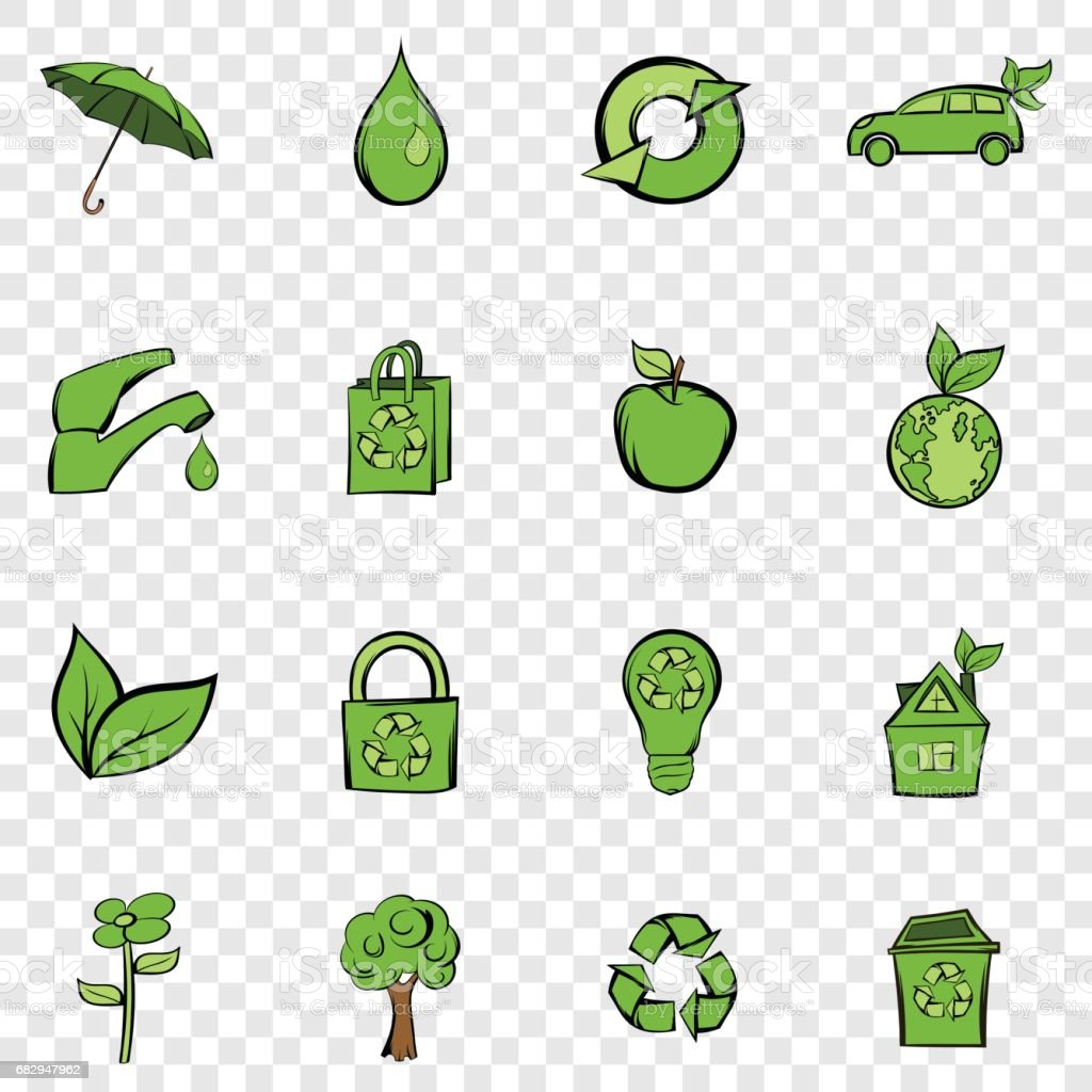 Eco set icons royalty-free eco set icons stock vector art & more images of cartoon