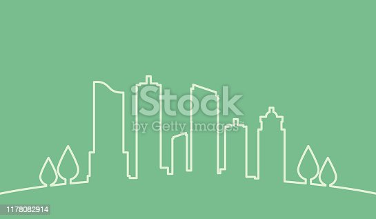 istock Eco single Line Skyline 1178082914