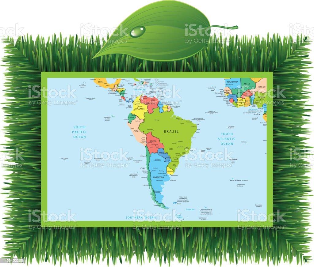 Eco South America royalty-free stock vector art